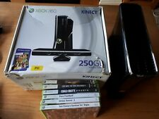 Xbox 360 S Slim Black 250GB - *CONSOLE ONLY* And Games