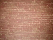 DOLLS HOUSE  WEATHERED BRICK MINIATURE WALL PAPER, 12 TH SCALE NEW, JULIE ANNS
