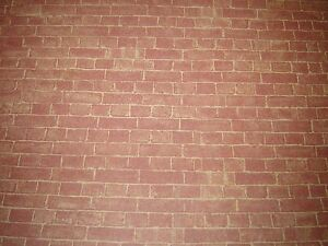 DOLLS HOUSE  BRICK MINIATURE WALL PAPER, 12 TH SCALE FREE DELIVERY JULIE ANNS
