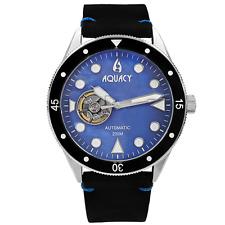 Aquacy Hei Matau Cave Diver Open Heart Men's Automatic 200M Blue MOP Dive Watch