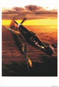 World War II Dog Fight  - Patriotic Air Force Fighter Plane Military POSTER