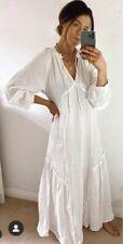 H&M CREAM COTTON LONG MAXI KAFTAN DRESS  Med 12/14