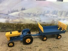 Matchbox Lesney Ford Tractor No 39 and Hay trailer 40 Farm Moko Farming