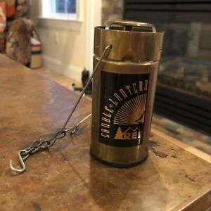 Vintage REI Candle Lantern Hiking Backpacking Hunting Camping Aluminum Handle