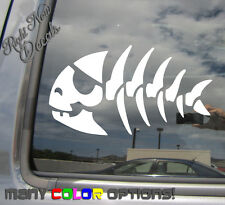 Skeleton Pirate Fish Skeleton Bone Fishing Car Window Vinyl Decal Sticker 01028