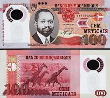 Mozambique 100 Meticais, 2011, UNC 2 Pcs PAIR, Consecutive, P-151, Polymer