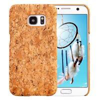 Samsung Galaxy S7 G930 CORCHO FUNDA CAJA CASO MADERA NATURAL HARD CASE COVER