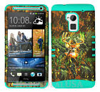 KoolKase Hybrid Silicone Cover Case for HTC One Max T6 - Camo Mossy Deer