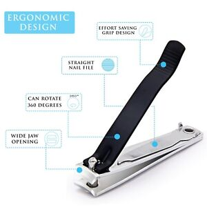 Toe Nail Clippers Nipper Cutter Podiatry Pedicure Kit Heavy Duty For Thick Nail