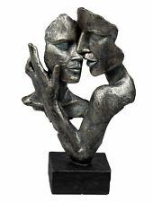 Exklusive Deko Büste Skulptur Liebespaar aus Kunststein Antikfarben Höhe 32 cm