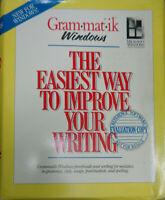Gram-mat-ik Windows [Grammatik] - by Reference Software - 1990. Evaluation copy.