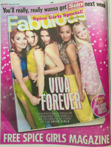 UK FABULOUS Magazine July 2021: SPICE GIRLS COVER FEATURE Mel C & B Emma Bunton