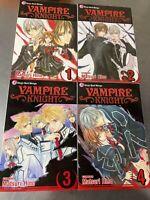 Vampire Knight Manga (English) Volumes 1-4 by Matsuri Hino - Great Condition!