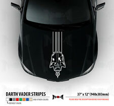 "37"" DARTH VADER Dark Side Star Wars Hood Stripes Car Vinyl Sticker Decal"