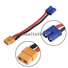 EC2 Banana Male Connector To XT60 Plug Wire Female Adapter for RC Lipo Battery