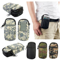 Men's Outdoor Travel Tactical Camping Waist Bags Pouch Belt Military Soft Bag
