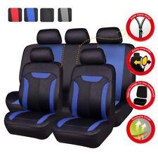 Universal Car Seat Covers Auto Seat Protector for SUV Truck Van Sedan Blue Black