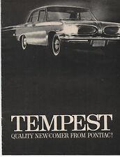 1960s Pontiac Tempest Automobile Brochure