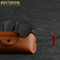 KEITHION Slim Fit Polarized Unisex Sunglasses Vintage Retro Round UV400 Eyewear