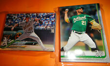 ATHLETICS 2 COMPLETE TEAM SETS, 2018 & 2019 TOPPS BASEBALL, ALL THREE SERIES
