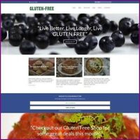 GLUTEN FREE Website Business For Sale - Fully Stocked Dropship Website Business