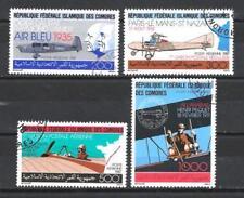 Avions Comores (38) série complète de 4 timbres oblitérés