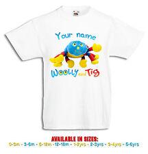 Woolly + Tig Personalised Boys, Girls White T Shirt cbeebies 0-3mths to 5-6yrs