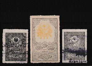 Turkey ottoman VERY RARE Hejaz Railway Revenue 3+1 Piastres 1910&131