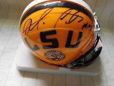 Morris Claiborne signed LSU mini helmet, COA, #17