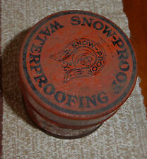Vintage Snow-Proof Leather Water Proofing Tin