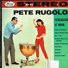 PETE RUGOLO percussion at work U.S. MERCURY LP_orig 1958 AUTOGRAPHED SR-80003