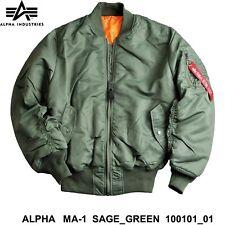 Alpha Ma-1 Fliegerjacke Oliv / sage Green Ma1 XXL