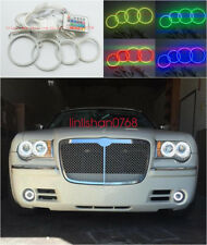 4x Excellent RGB Multi-Color Angel Eyes Halo Rings For Chrysler 300C 2004 - 2010