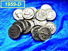 """1959-D Roosevelt Dime �� """"Xf"""" Condition �� 90% Silver �� (•3205a)"""