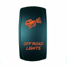 12V 20A ROCKER SWITCH OFF ROAD LIGHTS ORANGE LASER LED UTV Boat Truck
