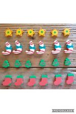 24 x Mini Christmas Erasers Rubbers Party Favours Student Rewards Stocking