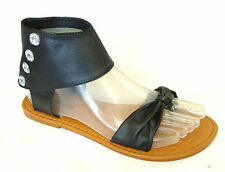 New  Girls' T-Strap Ankle Strap Jewel Gladiator Flat Sandals Clearance--(8058K)