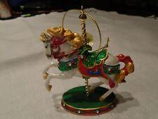 Danbury Mint Carnival Carousel Horse Christmas Ornament New Condition