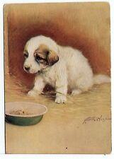 PYRENEAN MOUNTAIN DOG PUPPY OLD DE RESZKE OUR PUPPIES POSTCARD CIGARETTE CARD