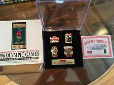 1996 Budweiser Olympic 4 Pin Set Atlanta Budweiser Limited Edition Case Box Incl