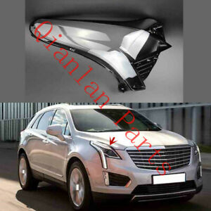 Right Side Clear Headlight Cover With Glue For Cadillac XT5 2017-2021