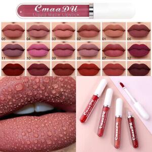 Ladies Lip Stick Matte Liquid Lipstick Makeup Waterproof Long Lasting Cosmetics