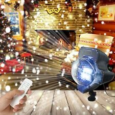Snow Falling LED Moving Laser Projector Light Snowflake Xmas Landscape Lamp