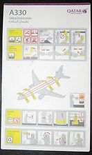 Qatar Airways Safety Card A330