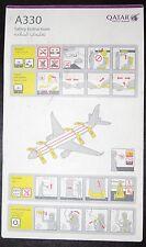 Qatar Airways Safety Card A330