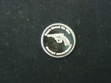 1 GRAM .999 SILVER 2nd AMENDMENT REVOLVER PISTOL ROUND COIN SMITH RUGER GUN