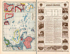 WWI MAP + ARTICLE & PICS ~ FATE OF THE GERMAN COLONIES AFRICA NEW GUINEA ASIA