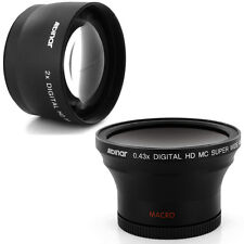 Albinar 58mm 0.43x Wide fisheye,2x Tele Lens for Canon EOS Rebel T2i T4i 450D