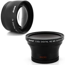 Albinar 58mm 0.43x Wide fisheye,2x Tele Lens for Canon EOS Rebel T2i T4i 450D