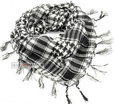 BLACK AND WHITE araba di Arafat Shemagh Keffiyeh Sciarpa Collo Wrap